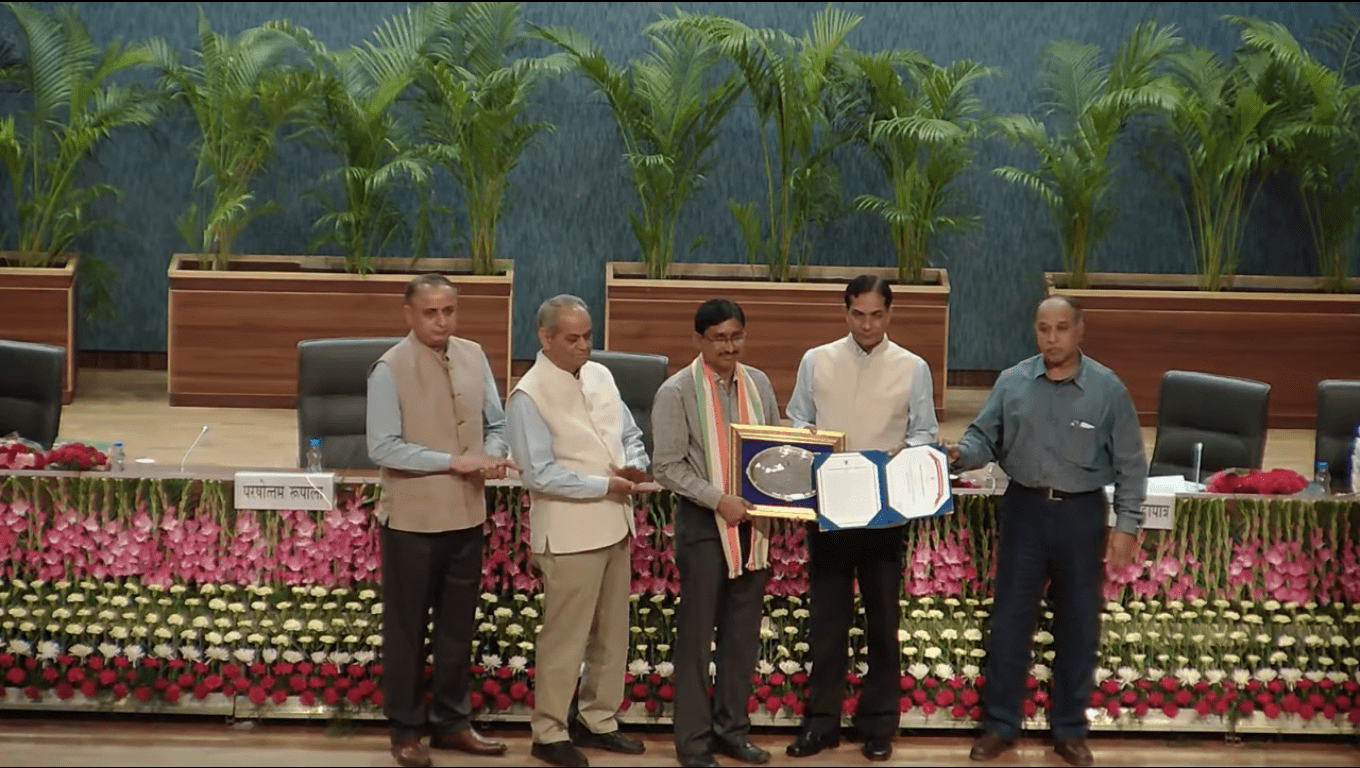 Receiving  ICAR award